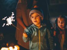 Children enjoying bonfire night