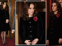Kate Middleton news: Pregnant Duchess conceals baby bump at Remembrance Sunday service images 2
