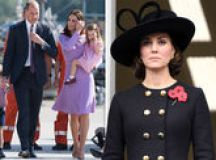 Kate Middleton news: Pregnant Duchess of Cambridge HIDES growing baby bump in large coat images 1