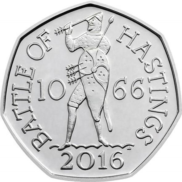A 50p coin
