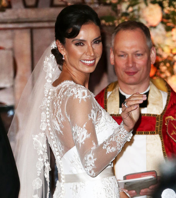 Christine Lampard at her wedding