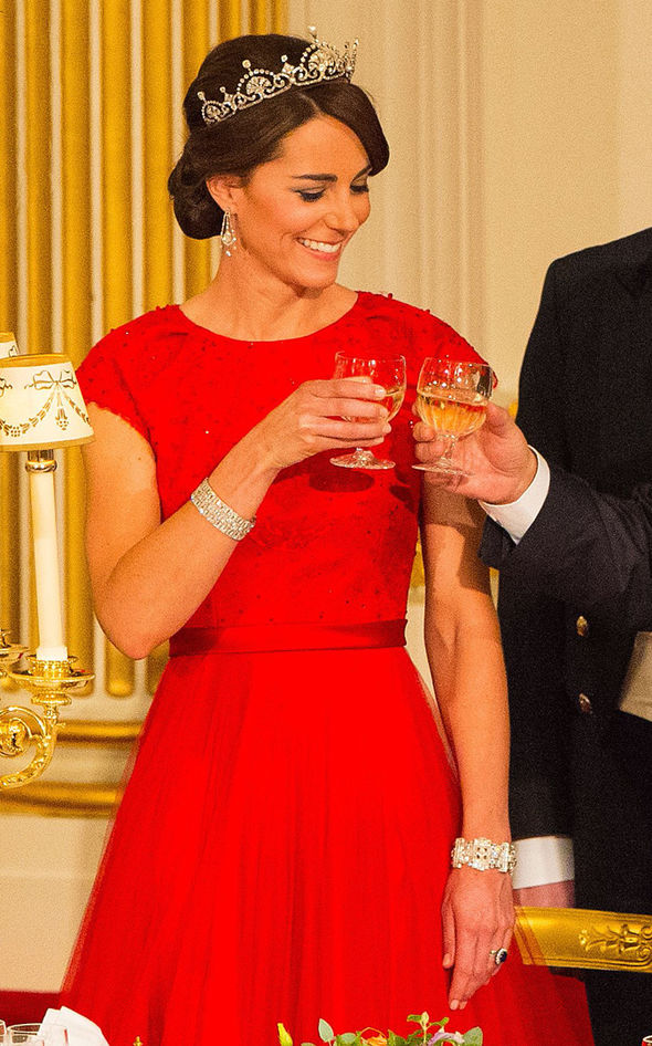 Queen Elizabeth IIs wedding present from Prince Philip and Kate Middleton has worn it