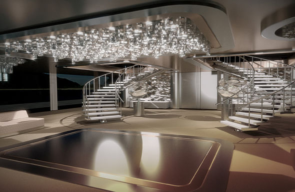 The Kraken Luxury super yacht with helipad and beach club  Expresscouk
