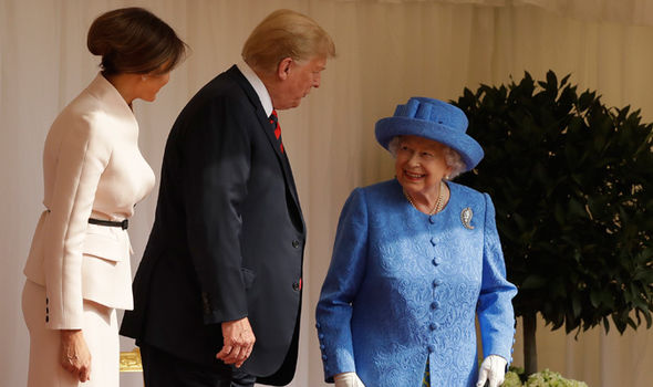 melania trump donald queen elizabeth news pictures
