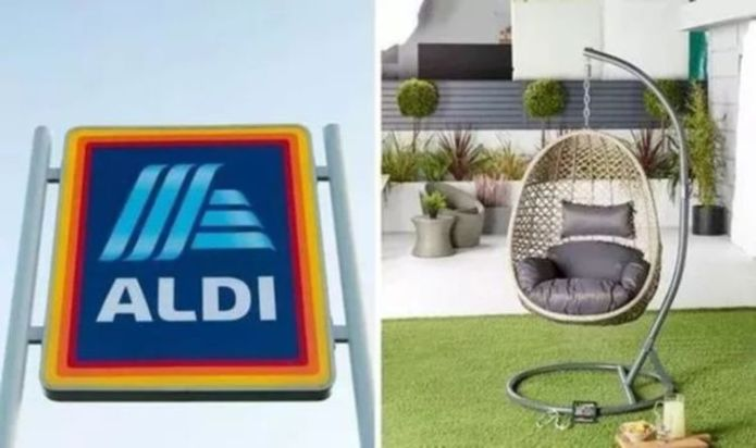 Aldi's sell-out hanging egg chair is back in stores on Sunday - but you must be quick