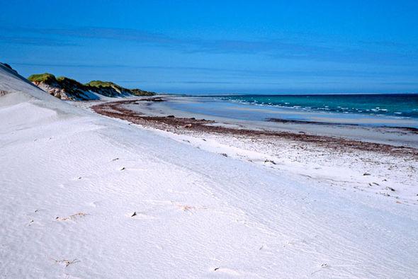 Sandy beach on Westray