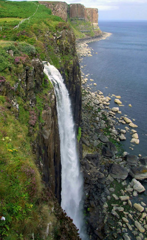 Mealt Falls at Kilt Rock on Skye  The Lochs of Scotland cruise: A reminder of how stunning Scotland is | Cruise | Travel Mealt Falls at Kilt Rock on Skye 1104416