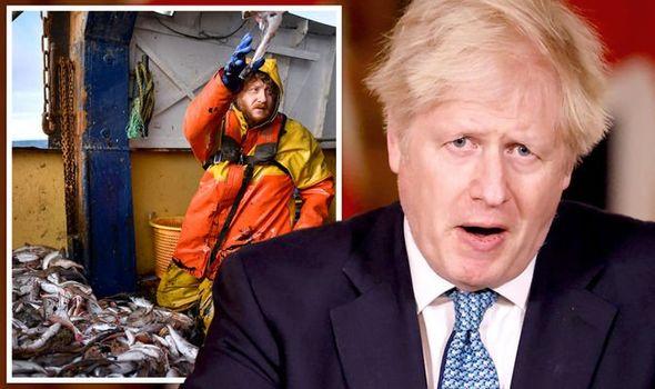 Boris Johnson fishing