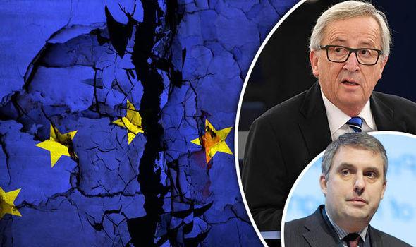 Ivailo Kalfin an an EU flag