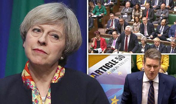 Theresa May looking concerned