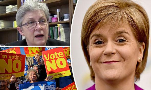Gisela Stuart, Nicola Sturgeon and Scottish campaigners