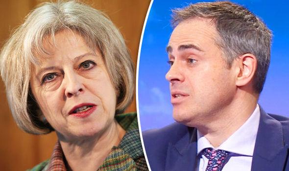 Theresa May and Jonathan Bartley