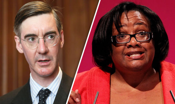 Jacob Rees-Mogg and Diane Abbott
