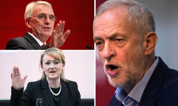 Jeremy Corbyn John McDonnell Rebecca Long-Bailey