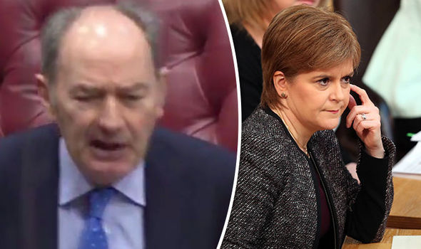 Lord Forsyth and Nicola Sturgeon
