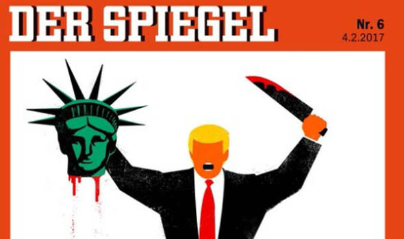 Der Spiegel's depiction of Donald Trump