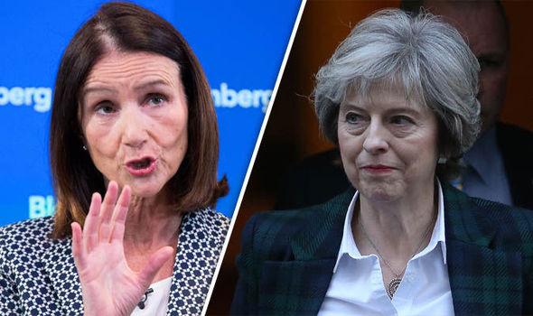 Carolyn Fairbairn and Theresa May