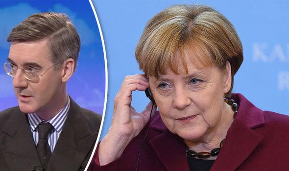 Angela Merkel, Theresa May, Jacob Rees-Mogg