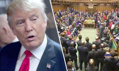 Trump ban in England