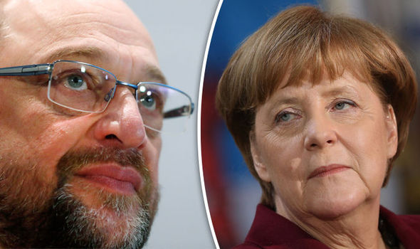 Martin Schulz takes on Angela Merkel i