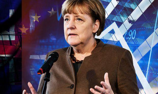 Theresa May and Angela Merkel