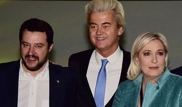 Matteo Salvini, Geert Wilders and Marine Le Pen