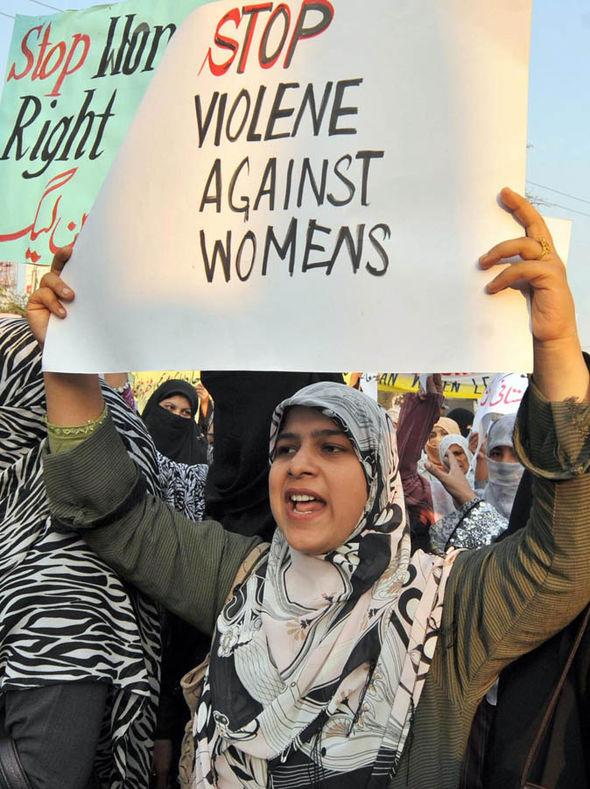 A woman protesting honour killings