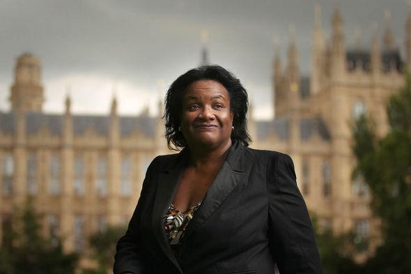 Diane Abbott in Westminster