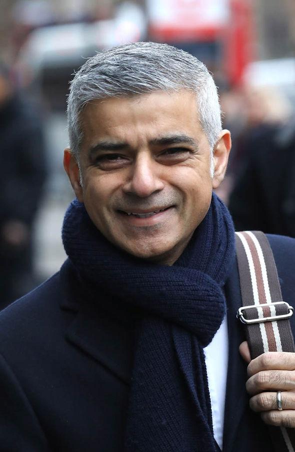 Sadiq Khan smiling