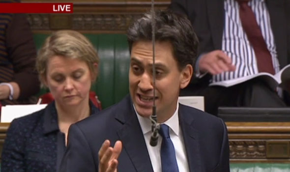 Ed Milliband in parliament