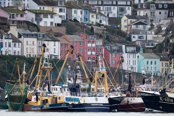 Fishing vessels moored in Brixham