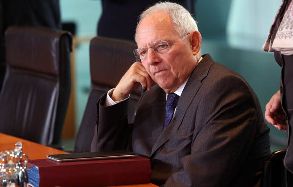 Finance Minister Wolfgang Schauble