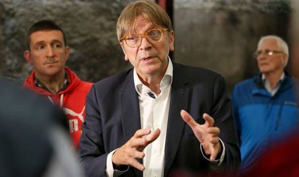 EU Parliament rapporteur Guy Verhofstadt  Theresa May's Florence speech – how EU leaders reacted to PM's Brexit plan | Politics | News Guy Verhofstadt 1074061