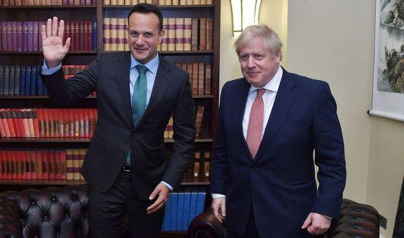 Leo Varadkar Boris Johnson