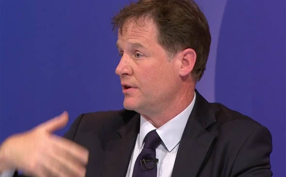 Nick Clegg on the BBC's Question Time
