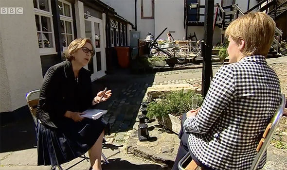 Nicola Sturgeon on BBC's Newsnight