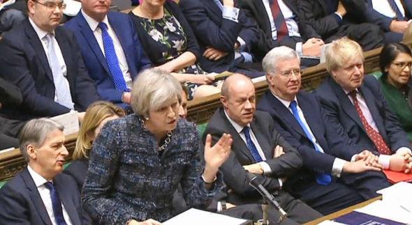 Theresa May in Parliament