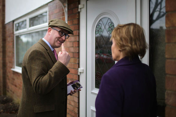 Paul Nuttall door knocking