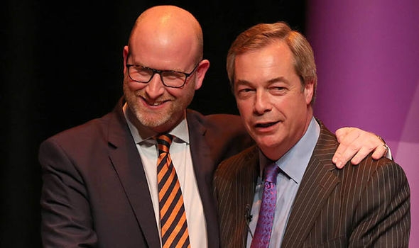 Ukip leader Paul Nuttall and Nigel Farage in Stoke