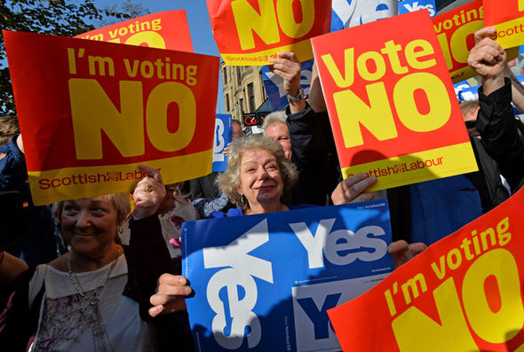 Scottish independence referendum campaigners