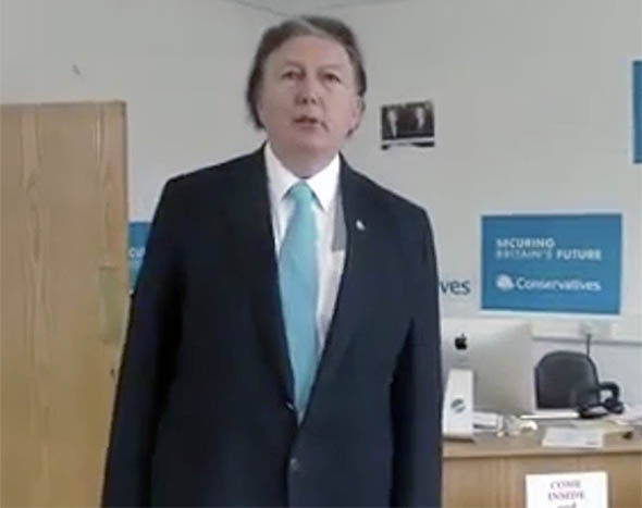 Sir Greg Knight in his campaign video