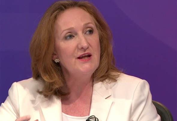 Suzanne Evans appearing on Question Time