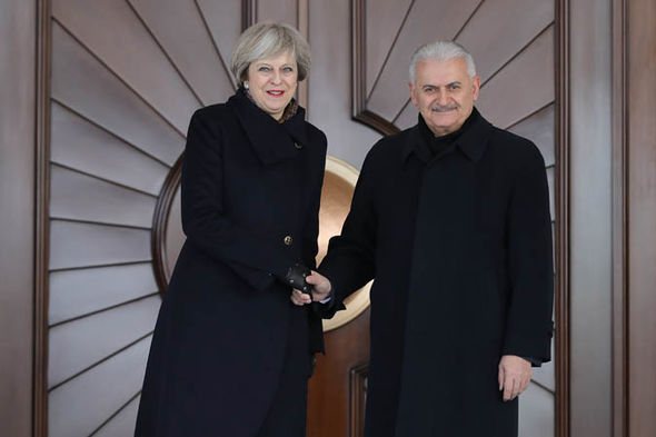 Theresa May Binali Yildirim