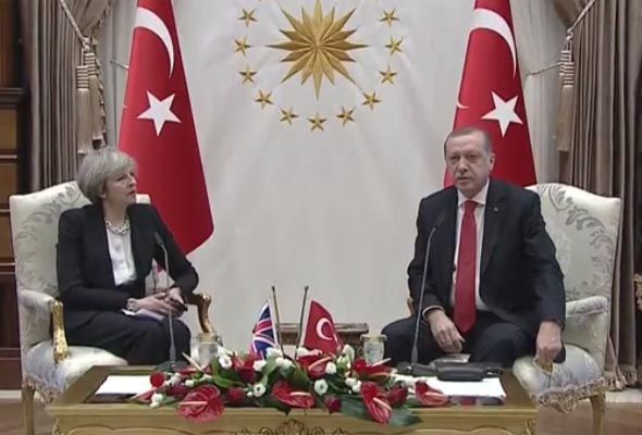 Theresa May and President Erdogan pledged to work together