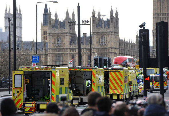 Ambulances at Westminster Bridge