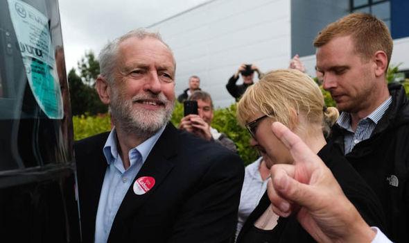 Jeremy Corbyn campaining
