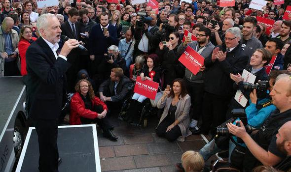 Jeremy Corbyn at scotland rally