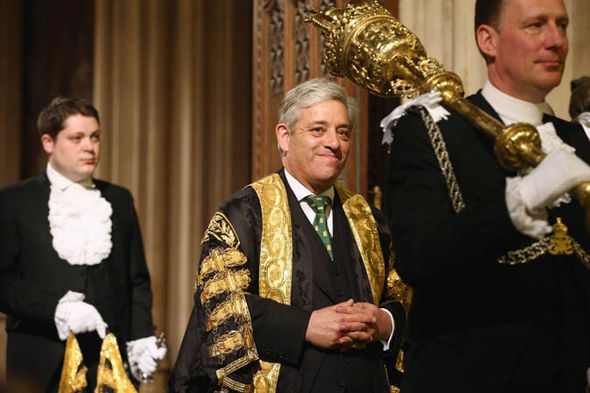 John Bercow in ceremonial clothing