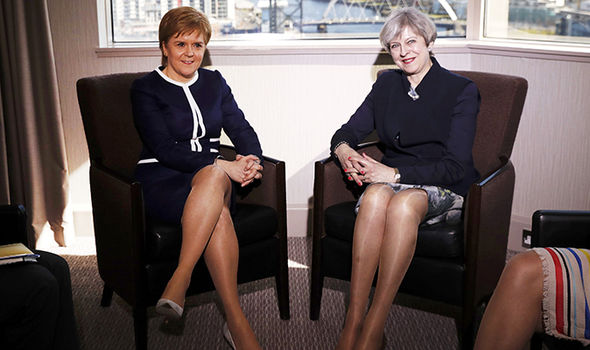 Theresa May and Nicola Sturgeon in Edinburgh