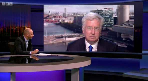 Michael Fallon on Newsnight